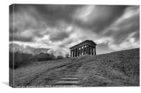 Penshaw monument during showers, Canvas Print