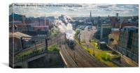 Flying Scotsman in Newcastle, Canvas Print
