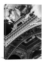 Eiffel Tower Infrared Abstract, Canvas Print