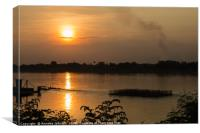 Sunset on the Mekong River, Canvas Print
