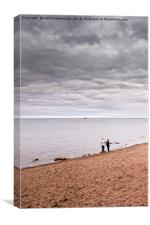 Negotiations At The Beach, Canvas Print