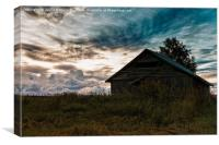 Barn House Under The Dramatic Clouds, Canvas Print
