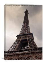 Heavy Clouds Over Eiffel Tower, Canvas Print