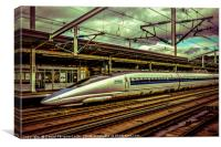 Fast Speed Train, Osaka, Japan, Canvas Print