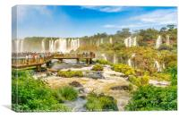 Devil Throat Waterfalls from Brazilian Border, Canvas Print