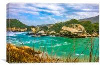 Landscape of Tayrona Nature Park in Colombia, Canvas Print