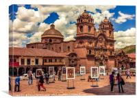 Plaza de Armas in Cusco Peru., Canvas Print