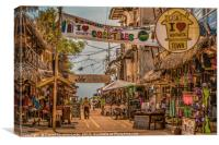 Street of Montanita Ecuador, Canvas Print