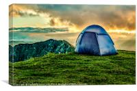 Tent at Top of Mountain, Quilotoa, Ecuador, Canvas Print