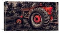 Farm Tractor, Canvas Print