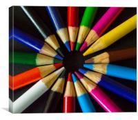 Colour Wheel, Canvas Print