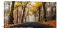 Foggy Autumn Drive, Canvas Print