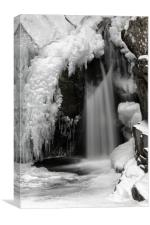 Frozen Falls of Bruar, Canvas Print