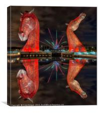 Firework Kelpies, Canvas Print