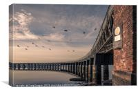 Tay Rail Bridge Dundee, Canvas Print