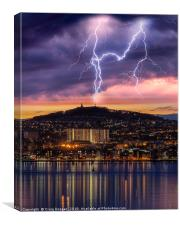 Dundee City Lightning, Canvas Print