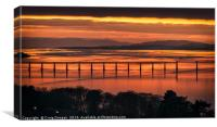 Dundee Tay Rail Bridge, Canvas Print