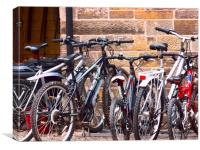 bicycles, Canvas Print