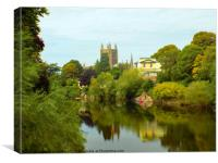 river wye at hereford, Canvas Print