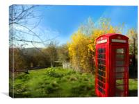 phonebox in old radnor wales, Canvas Print