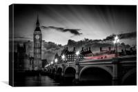 LONDON Westminster Bridge at Sunset, Canvas Print