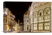 FLORENCE Saint Mary of the Flowers & Baptistery, Canvas Print