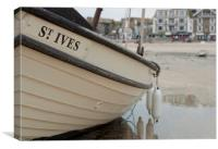 St Ives Boat, Canvas Print