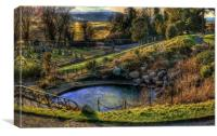 Stirling Old Town Cemetery, Canvas Print