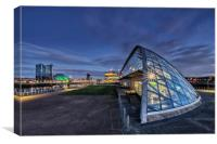 Glasgow Attractions, Canvas Print