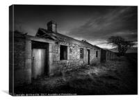 Derelict Cottages, Canvas Print
