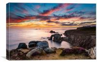 Land's End Sunset Splendour, Canvas Print