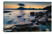 Elgol and the Cuillin Mountains, Canvas Print