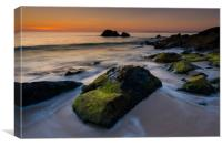 Turn of the tide at St Ives, Canvas Print