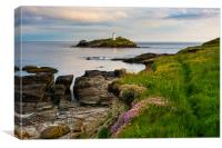 Godrevy lighthouse at dawn II, Canvas Print
