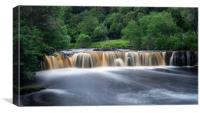 Wain Wath Waterfalls in Swaledale, Canvas Print