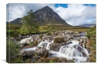 Buchaille Etive Mor and the waterfalls, Canvas Print