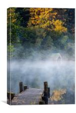 Old Boat House at Loch Ard, Canvas Print