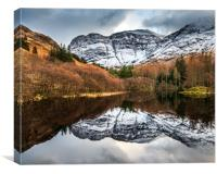 Winter at Torren Lochan, Glencoe   , Canvas Print