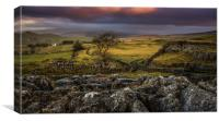 Winskill stones in Yorkshire Dales National Park, Canvas Print