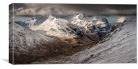 Glencoe, The Three Sisters in Winter, Canvas Print