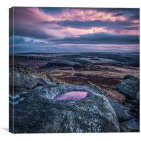 Sunset on Higger Tor, Canvas Print