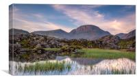 Reflections of Great Gable at Sunrise, Canvas Print