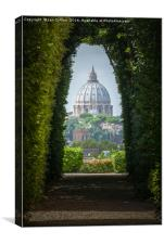 St Peter's through a Keyhole, Rome, Canvas Print