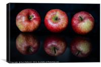 a trio of apples, Canvas Print