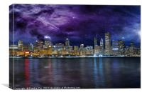 Spacey Chicago Skyline, Canvas Print