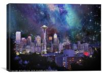 Spacey Seattle, Canvas Print