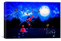 Autumn love - Moonlight, Canvas Print