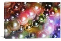 Colorful beads , Canvas Print