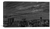 Steel City Sunset (Black and White), Canvas Print