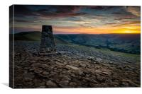 Mam Tor Sunset #3, Canvas Print